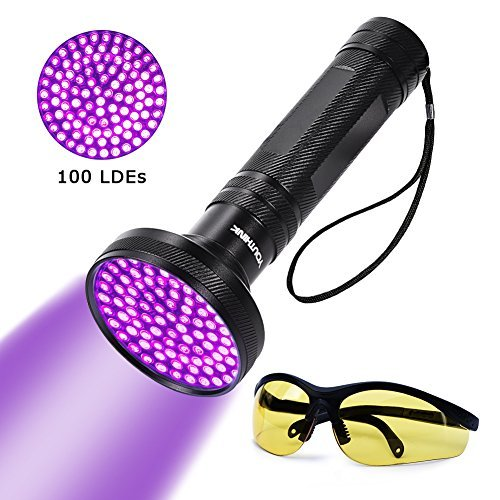 Black Light Hotel: UV Blacklight Flashlight Super Bright 100 LED 18W 395nm