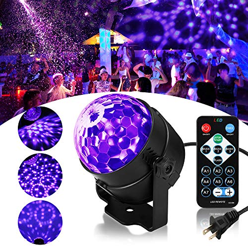Solmore Led Uv Black Light 3w Disco Ball Party Lights Dj